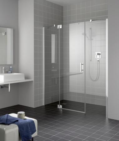Kermi Kyvné dveře Filia XP 1GR 14320 1380-1418/2000 stříbrná vys.lesk ESG čiré Clean 1-křídlé kyvné dveře s p. poli panty vpravo (FX1GR14320VPK)