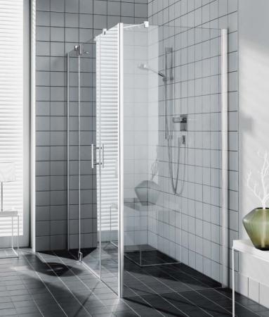 Kermi Boční stěna Filia XP UWD 07520 725-750/2000 stříbrná vys.lesk ESG čiré Clean boční pro 1-křídlé kyvné dveře s pevnými poli (FXUWD07520VPK)