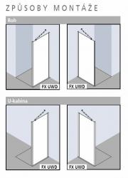 Kermi Boční stěna Filia XP UWD 07520 725-750/2000 stříbrná vys.lesk ESG čiré Clean boční pro 1-křídlé kyvné dveře s pevnými poli (FXUWD07520VPK), fotografie 8/4
