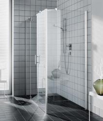 Kermi Boční stěna Filia XP UWD 08020 775-800/2000 stříbrná vys.lesk ESG čiré Clean boční pro 1-křídlé kyvné dveře s pevnými poli (FXUWD08020VPK)