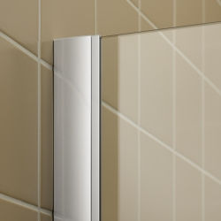 Kermi Rohový vstup Filia XP EPL 12320 1185-1210/2000 stříbrná vys.lesk ESG čiré Clean Rohový vstup 2-dílný kyvné dveře s pevnými poli (FXEPL12320VPK), fotografie 2/8