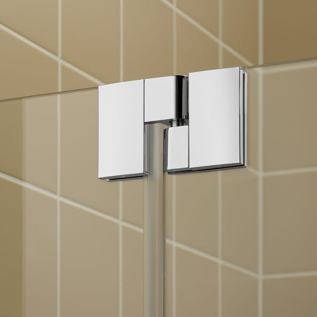 Kermi Čtvrtkruh Filia XP P55 09020 875-900/2000 stříbrná vys.lesk ESG čiré Clean Čtvrtkruhový sprch. kout kyvné dveře s pevnými poli (FXP5509020VPK)