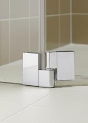 Kermi Čtvrtkruh Filia XP P55 09020 875-900/2000 stříbrná vys.lesk ESG čiré Clean Čtvrtkruhový sprch. kout kyvné dveře s pevnými poli (FXP5509020VPK), fotografie 16/9