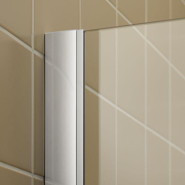 Kermi Čtvrtkruh Filia XP P50 10020 975-1000/2000 stříbrná vys.lesk ESG čiré Clean Čtvrtkruhový sprch. kout kyvné dveře s pevnými poli (FXP5010020VPK)