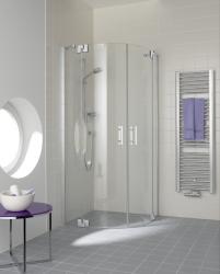 Kermi Čtvrtkruh Filia XP P55 10120 975-1000/2000 stříbrná vys.lesk ESG čiré Clean Čtvrtkruhový sprch. kout kyvné dveře s pevnými poli (FXP5510120VPK)