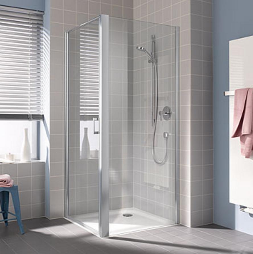 Kermi Boční stěna Cada XS TWD 04020 360-410/2000 stříbrná vys.lesk ESG čiré Clean boční stěna  (CCTWD04020VPK)