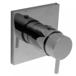 TRES - Termostatická sprchová baterie podomítkovás uzávěrem a regulací průtoku Včetně podomítkového tělesa (190647)
