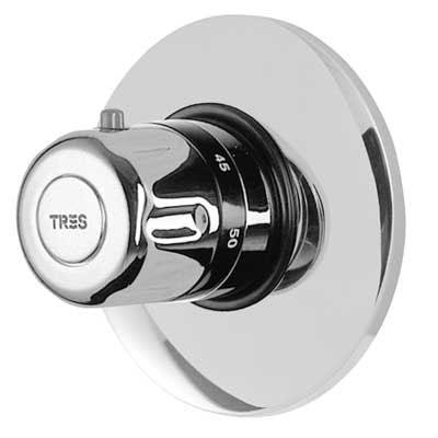 """TRES TRESMOSTATIC Termostatická sprchová baterie podomítková Výstupy 1/2"""". Důležité · Včetně podomítkového tělesa (190165 )"""