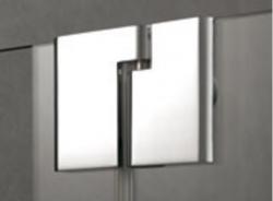 Kermi Čtvrtkruh Pasa XP P55 09018 870-900/1850 stříbrná matná ESG čiré Čtvrtkruhový sprch. kout kyvné dveře s pevnými poli (PXP55090181AK), fotografie 2/7