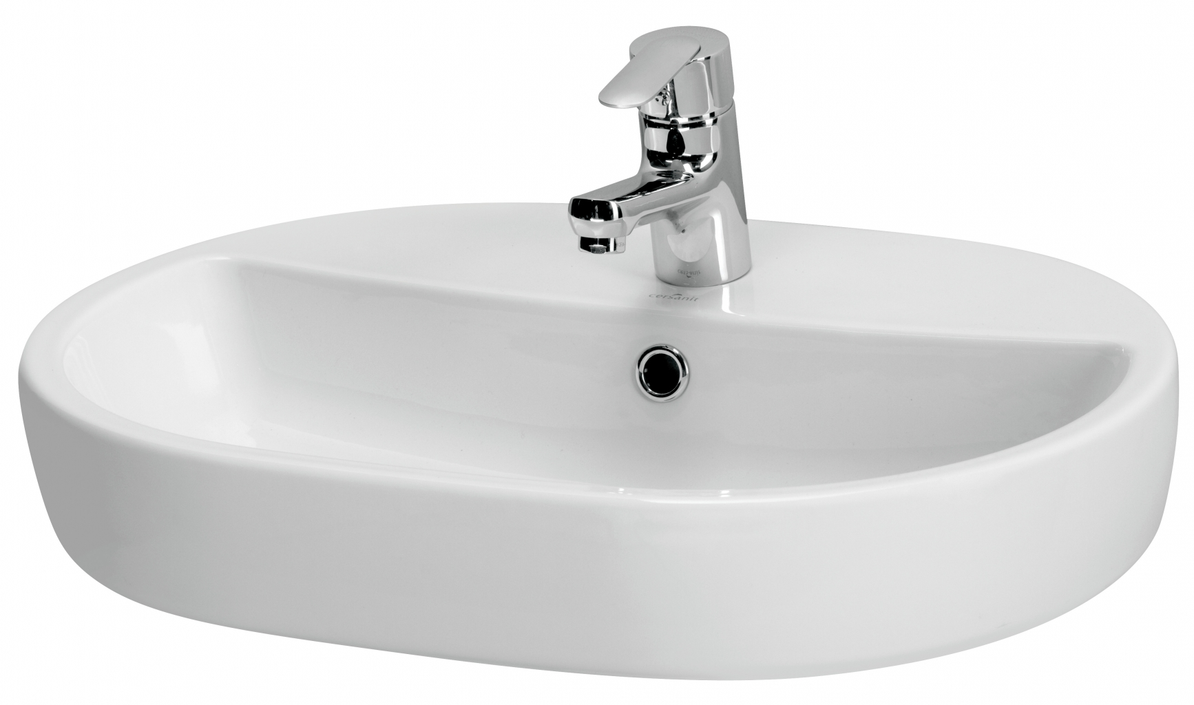 Umyvadlo CASPIA OVAL 60 s přepadem (K11-0099)