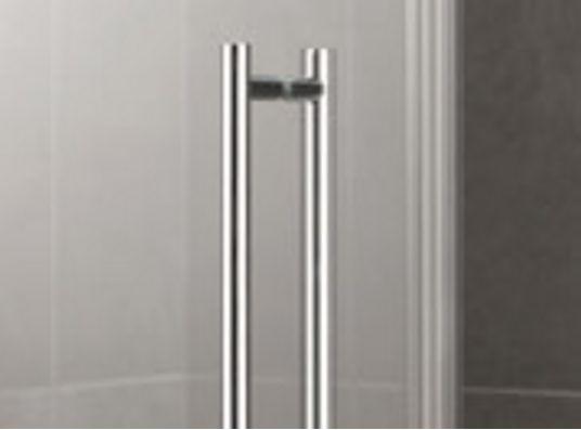 Kermi Čtvrtkruh Pasa XP P55 09018 870-900/1850 stříbrná matná ESG čiré Clean Čtvrtkruhový sprch. kout kyvné dveře s pevnými poli (PXP55090181PK)