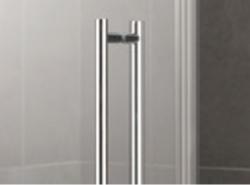 Kermi Čtvrtkruh Pasa XP P50 09020 870-900/2000 stříbrná matná ESG čiré Clean Čtvrtkruhový sprch. kout kyvné dveře s pevnými poli (PXP50090201PK), fotografie 4/7