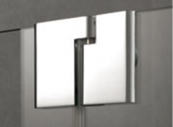 Kermi Čtvrtkruh Pasa XP P55 09020 870-900/2000 stříbrná matná ESG čiré Clean Čtvrtkruhový sprch. kout kyvné dveře s pevnými poli (PXP55090201PK), fotografie 2/7