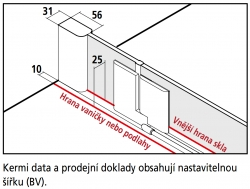 KERMI - Pasa XP / jednokřídlé kyvné dveře s pevným polem vlevo, jen do niky (PX1TL080181AK), fotografie 10/11