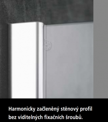 KERMI - Pasa XP / jednokřídlé kyvné dveře s pevným polem vlevo, jen do niky (PX1TL07518VAK), fotografie 20/11