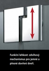 Kermi Kyvné dveře Pasa XP 1TR 07518 725-760/1850 stříbrná matná ESG čiré Clean 1-křídlé kyvné dveře s p. polem panty vpravo (PX1TR075181PK), fotografie 14/11