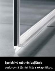 Kermi Kyvné dveře Pasa XP 1TR 07518 725-760/1850 stříbrná matná ESG čiré Clean 1-křídlé kyvné dveře s p. polem panty vpravo (PX1TR075181PK), fotografie 16/11