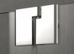 Kermi Kyvné dveře Pasa XP 1TR 07518 725-760/1850 stříbrná matná ESG čiré Clean 1-křídlé kyvné dveře s p. polem panty vpravo (PX1TR075181PK), fotografie 4/11
