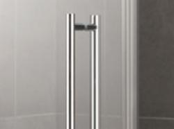 Kermi Kyvné dveře Pasa XP 1TR 07518 725-760/1850 stříbrná matná ESG čiré Clean 1-křídlé kyvné dveře s p. polem panty vpravo (PX1TR075181PK), fotografie 6/11