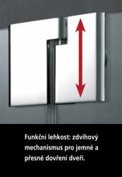 Kermi Kyvné dveře Pasa XP 1TR 07518 725-760/1850 stříbrná vys.lesk ESG čiré Clean 1-křídlé kyvné dveře s p. polem panty vpravo (PX1TR07518VPK), fotografie 14/11