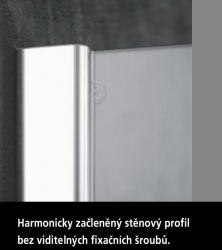 Kermi Kyvné dveře Pasa XP 1TR 07518 725-760/1850 stříbrná vys.lesk ESG čiré Clean 1-křídlé kyvné dveře s p. polem panty vpravo (PX1TR07518VPK), fotografie 20/11