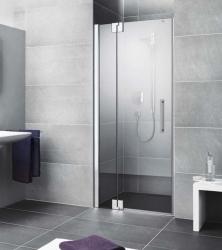 Kermi Kyvné dveře Pasa XP 1TR 09018 875-910/1850 stříbrná vys.lesk ESG čiré Clean 1-křídlé kyvné dveře s p. polem panty vpravo (PX1TR09018VPK)
