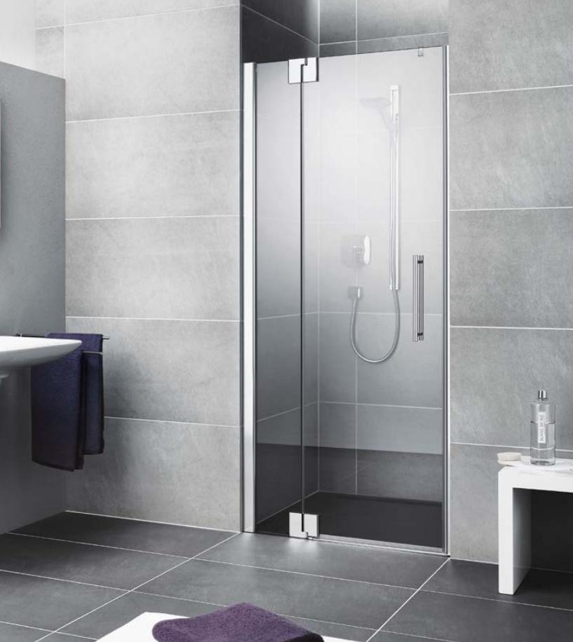 Kermi Kyvné dveře Pasa XP 1TR 11018 1075-1110/1850 stříbrná vys.lesk ESG čiré Clean 1-křídlé kyvné dveře s p. polem panty vpravo (PX1TR11018VPK)