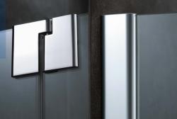 Kermi Kyvné dveře Pasa XP 1WR 09018 870-900/1850 stříbrná vys.lesk ESG čiré Clean 1-křídlé kyvné dveře s p. polem pro boční stěnu/zkrácenou boční stěnu (PX1WR09018VPK), fotografie 10/9