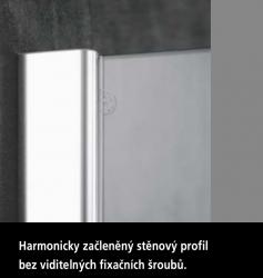 Kermi Kyvné dveře Pasa XP 1WR 09018 870-900/1850 stříbrná vys.lesk ESG čiré Clean 1-křídlé kyvné dveře s p. polem pro boční stěnu/zkrácenou boční stěnu (PX1WR09018VPK), fotografie 2/9