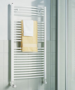 KERMI - LR0101200552XXK / B-20 R, koupelnový radiátor zahnutý    1200x550mm, bílá