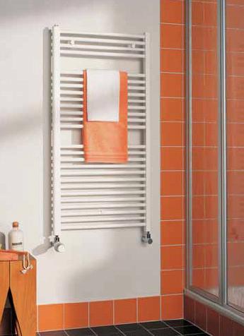 KERMI B-20 S, koupelnový radiátor rovný 800x400mm, bílá