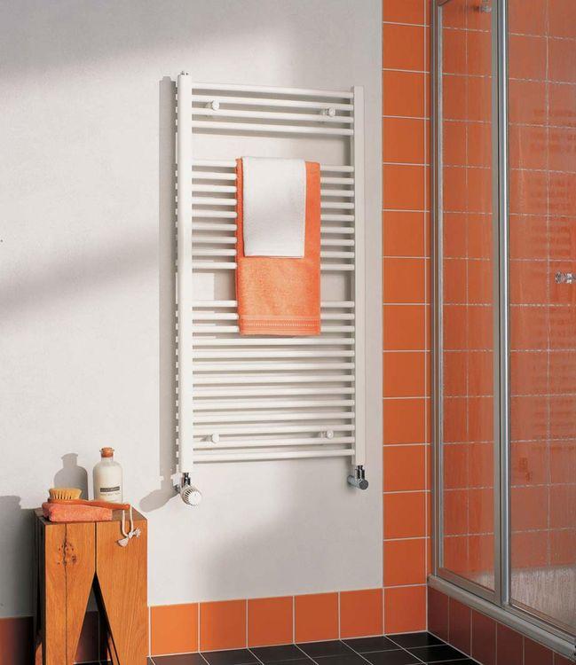 KERMI - LS01M1200402XXK / B-20 SM, koupelnový radiátor rovný, se středovým připojením    1200x400mm, bílá