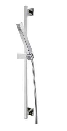 Sprchová souprava, proti usaz. vod. kamene CUADRO Materiál Mosaz, délka 842 mm. Flexi hadi (407934) Tres