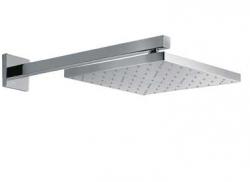 TRES - Nástěnné sprchové ramínko s kropítkem se systémem proti usaz. vod. kamenes kloubem. 300x300mm. (134433)