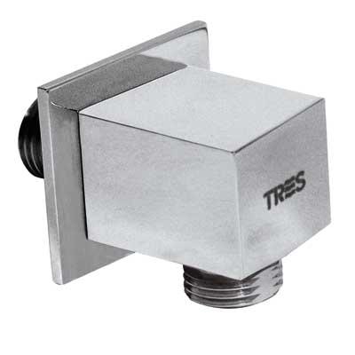 TRES TYAE A SPRCHA Čtvercový držák na sprchu s nástěnným vodnim přívodem (9106182053 )