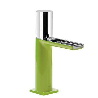 Jednopáková umyvadlová baterie ramínko s otevřeným vodopádem. POZNÁMKA: Baterie typu vodop (20011002VED)