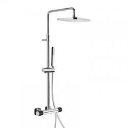 TRES - Souprava termostatické sprchové baterie Pevná sprcha 220x220mm. s kloubem. Ruční sprcha, proti usaz. vod. kamene. (20019501NE)