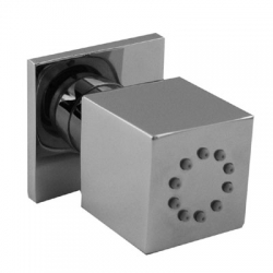 Boční hydromasážní sprchas 1 typem natáčecího proudu. Má systém proti usazování kamence, zpětný ventil a omezovač průto (9134515) - TRES