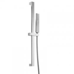 TRES - Sprchová souprava, proti usaz. vod. kamene PROJECTMateriál Mosaz, délka 659mm Flexi hadice SATIN (134526)
