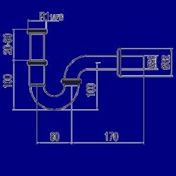 TRES - Umyvadlový sifon s kloubovým zakřivením (13463810), fotografie 2/1