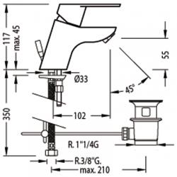 TRES - Jednopáková umyvadlová baterie (139102), fotografie 2/5
