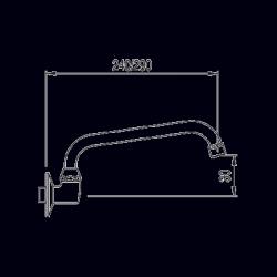TRES - Otočné trubkové ramínko237mm. (134302), fotografie 2/1