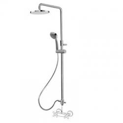 TRES - Sprchová souprava, proti usaz. vod. kamenePevná sprcha O225mm. Flexi hadice SATIN. Ruční sprcha, proti usaz. vod. kam (06163509)