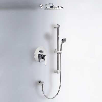 Sprchová sada vestavná s uzávěrem a regulací průtoku. · Včetně podomítkového tělesa · Pevn (17098002)