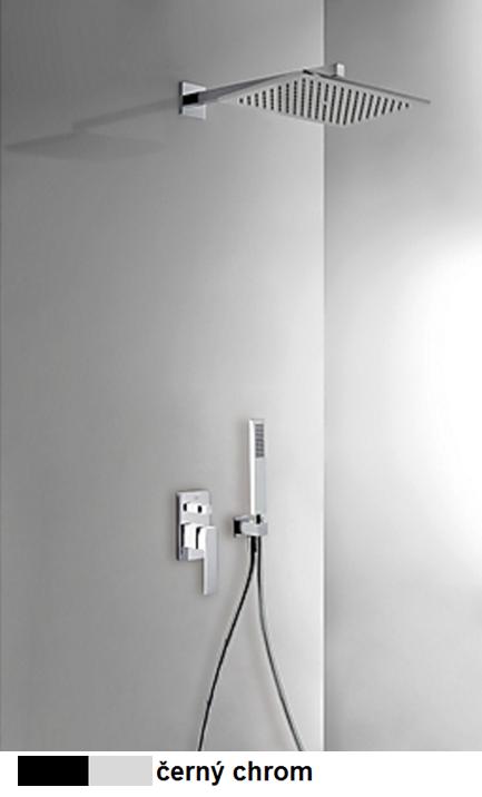 Podomítkový jednopákový sprchový set s uzávěrem a regulací průtoku.· Včetně podomítkového (20218006NE) Tres