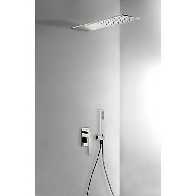 Podomítkový jednopákový sprchový set s uzávěrem a regulací průtoku.· Včetně podomítkového (20218003AC) Tres