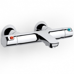 Nástěnná termostatická vanová baterie VICTORIA s přepínacím ventilem a regulátorem průtoku, bez příslušensví (A5A1118C00) - AKCE/ROCA
