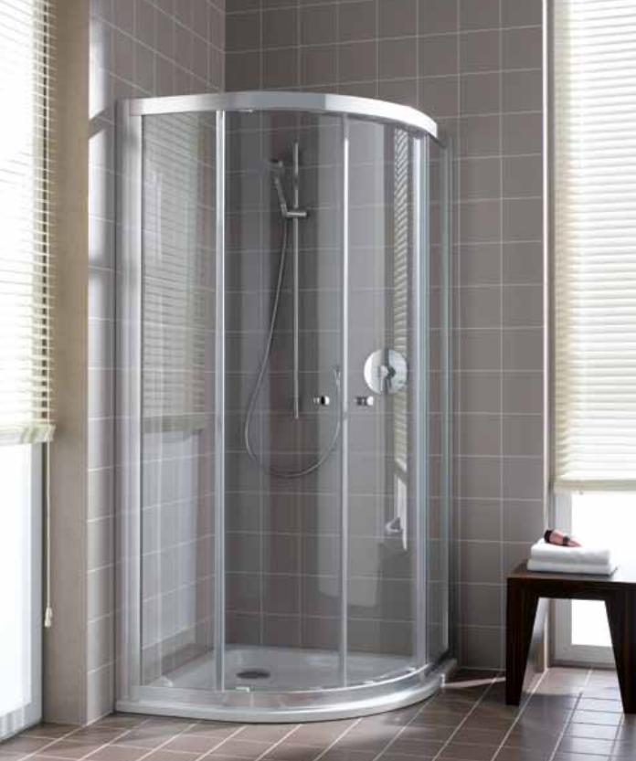VÝPRODEJ Čtvrtkruhový sprchový kout, posuvné dveře (CAQ2009018VPK)