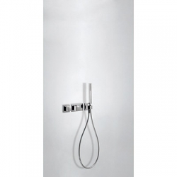 TRES - Termostatická podomítková baterie BLOCKSYSTEMs uzávěrem a regulací průtoku (1-cestná). Včetně podomítkového termosta (20725191)