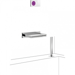 TRES - Termostatický podomítkový elektronický vanový set SHOWERTECHNOLOGY Včetně elektronického ovládání (bílá barva). Zab (09286570)